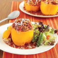 Image of A Crock Of Shrimp Stuffed Bell Peppers Recipe, Group Recipes