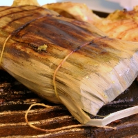 Image of Achiote Marinated Chicken Cooked In Banana Leaves Recipe, Group Recipes
