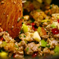 Sausage Cranberry Cornbread Stuffing Recipe