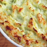 Double Baked Mashed Potatoes With Fontina And Italian Parsley Recipe