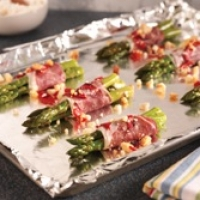 Image of Asparagus Bundles With  Prosciuto Wgoat Cheese Recipe, Group Recipes