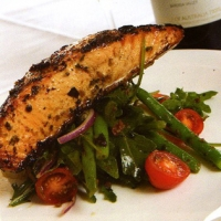 Image of Atlantic Salmon With Semi Sundried Tomatoes And Preserved Lemon Dressing Recipe, Group Recipes