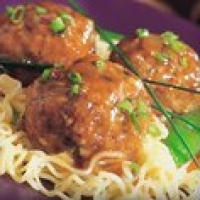 Image of Asian Veal Meatballs With Noodles Recipe, Group Recipes