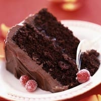 Cranberry Chocolate Cake With Chocolate Buttercream Frosting Recipe