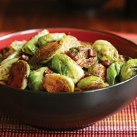Balsamic Glazed Brussels Sprouts With Pancetta Recipe