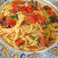 Image of Angel Hair Pasta With Smoked Salmon In Tomato Sauce Dated 1966 Recipe, Group Recipes