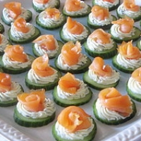 Cream Cheesey Cucumber Smoked Salmon Rosettes Appetizer Recipe