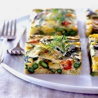 Image of Asparagus Zucchini Pepper Frittata Recipe, Group Recipes