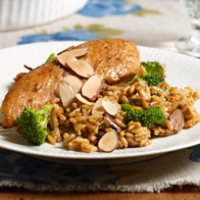 Image of Almond Chicken And Rice Recipe, Group Recipes