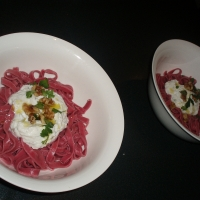 Image of Amazing Purple Beet Pasta With Ricotta Recipe, Group Recipes