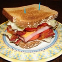 Image of Amys Triple Decker Turkey Bacon Sandwich Recipe, Group Recipes