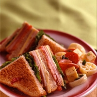 Image of All-american Club Sandwich Recipe, Group Recipes