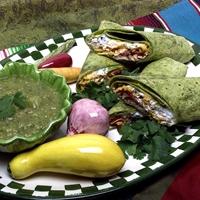 Shredded Chicken Burritos With Cactus Pear Sauce Recipe