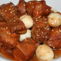 Image of Chicken Adobo With Coconut Cream And Quail Eggs Recipe, Group Recipes