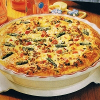 Image of Asparagus Ham Quiche Recipe, Group Recipes