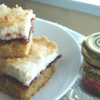 Image of Almond And Raspberry Meringue Bars Recipe, Group Recipes