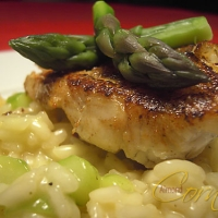 Image of Asparagus Risotto With Zander Recipe, Group Recipes