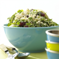 Image of Alouette Crumbled Blue Cheese Pear And Baby Arugula Salad Recipe, Group Recipes