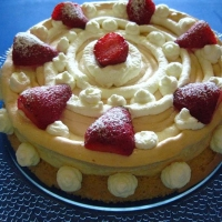 Image of Almond Meringue Spin Cake Recipe, Group Recipes
