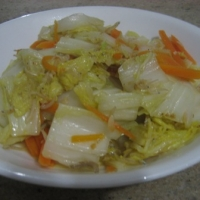 Stirfry Chinese Cabbage With Anchovies Recipe