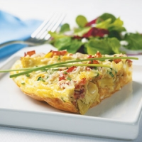 Image of Artichoke Amp Prosciutto Frittata Recipe, Group Recipes