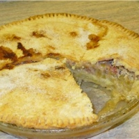 Image of Amana Ox Yoke Inn Rhubarb Custard Pie Recipe, Group Recipes