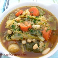Image of Autumn White And Green Bean Soup Recipe, Group Recipes