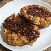 Asian Salmon Cakes With Creamy Miso And Sake Sauce Recipes ...