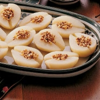 Image of Almond Stuffed Pears Recipe, Group Recipes