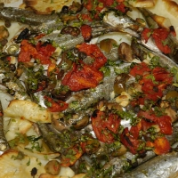 Anchovy Pizza Recipe http://www.grouprecipes.com/66199/maltese-anchovy-and-potato-pizza.html
