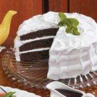 Brown Velvet Cake With Fluffy White Frosting Recipe