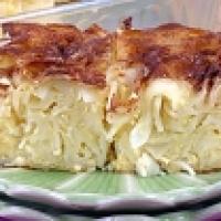 Peach Noodle Kugel Recipe — Dishmaps