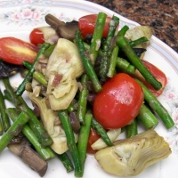 Image of Asparagus Artichoke And Mushroom Saute Recipe, Group Recipes