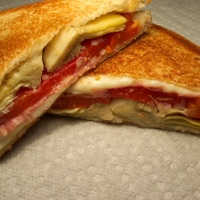 Image of Antipasto Grilled Cheese Sandwich Recipe, Group Recipes