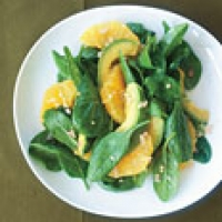 Image of Asian Spinach Salad With Orange And Avocado Recipe, Group Recipes