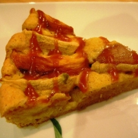 Image of Apple Peaches Tart With Butterscotch Sauce Recipe, Group Recipes