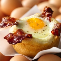 Bacon And Egg Savory Cupcakes Recipe