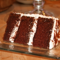 Image of All-american Choc Cake With Divinity Frosting And Milk Chocolate Paint Recipe, Group Recipes