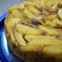 Image of Healthier Upside Down Apple Cake Recipe, Group Recipes