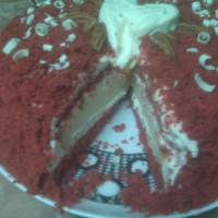 Image of Amazingly Awesome Red Velvet Cheesecake Cake Recipe, Group Recipes
