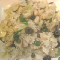Image of Artichoke Spinach Cannellini Bean Bow Tie Recipe, Group Recipes