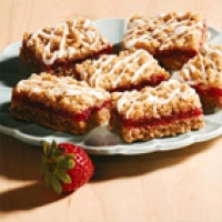 Image of Strawberry Rhubarb Bars Recipe, Group Recipes