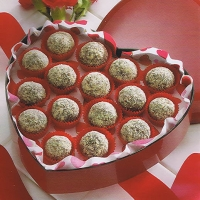Image of Almond-coated Chocolate Truffles  Diabetic Recipe, Group Recipes