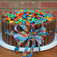 Image of Autism Celebration Cake Aka Kit Kat(r) Candy Cake Recipe, Group Recipes