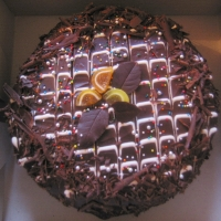Image of Almond-orange Sponge With Chocolate Ganache Icing Recipe, Group Recipes