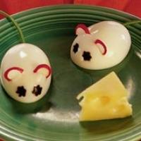 Hard-boiled Egg Mice Recipe