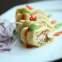 Image of Amritsari Macchi Sushi Roll Recipe, Group Recipes