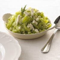 Image of Alouette Fat Free Feta And Cucumber Saute Recipe, Group Recipes