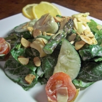 Image of Artichoke And Asparagus Salad With Creamy Lemon Dressing Recipe, Group Recipes