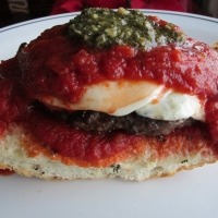Italian Burger On Garlic Toast Recipe